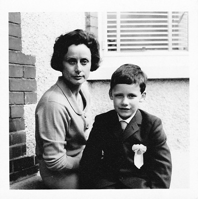 June and Simon Digby. Dublin. First Holy Communion 1968